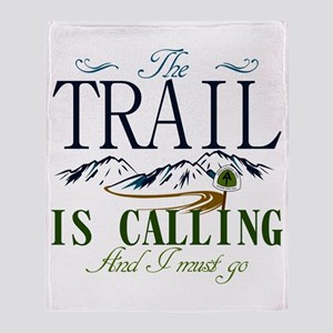The Trail Is Calling [AT] Throw Blanket
